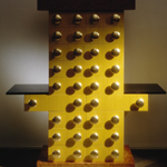 <p><strong><a href=ettore-sottsass.html class=link-lightbox>Ettore Sottsass</a></strong><br />Bharata</p><p><strong>Mobile Giallo</strong><br />Chest of drawers in lacquered wood, briar and gilded wood.<br />132 x 46 x h. 146 cm. <strong></strong></p>