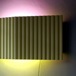<p><strong><a href=johanna-grawunder.html class=link-lightbox>Johanna Grawunder</a></strong><br />In the Desert</p><p><strong>La Verne</strong><strong> </strong><br />Wall light with a  steel structure and front panel in painted aluminium. Remote controlled  lighting system with variable intensities and colors. <br />  205 x 28 x h. 95 cm.</p><p>Limited edition of 6 signed and numbered  pieces.</p>